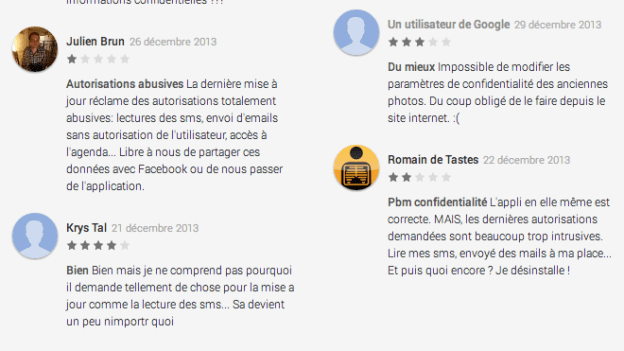 Extrait opinion Facebook Android