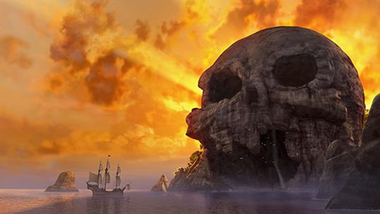 Clochette et la fée pirate, skull rock