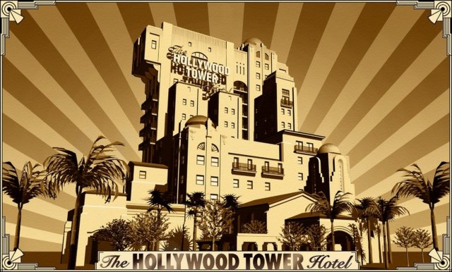 Hollywood Tower Hotel avant l'accident