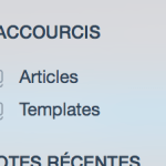 Capture des raccourcis Evernote