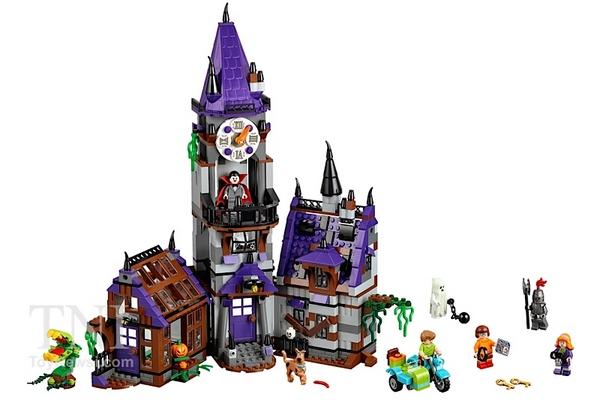 Le contenu de la boite Mystery Mansion de Scooby-Doo (LEGO via Toy News International)