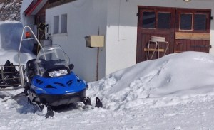 les secouristes interviennent aussi en moto neige