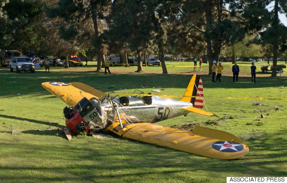 Crash avion Harrison Ford
