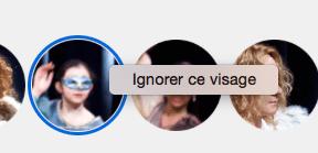 Ignorer suggestion visages Photos