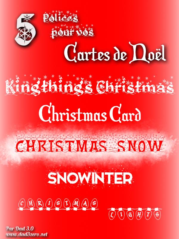5 polices pour Noël