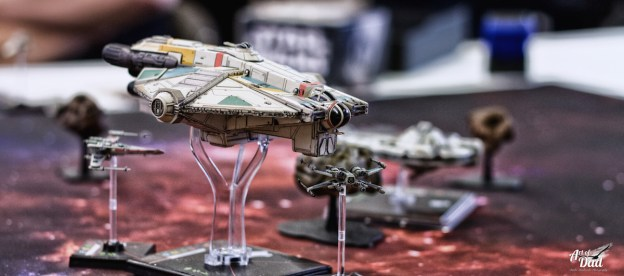 Le Ghost sur une table X Wing Miniatures, JFJ 2016 (D. Stankovski)