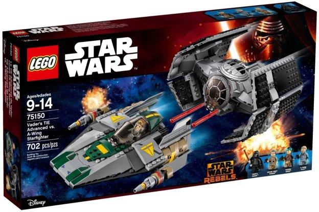 Le visuel de la boite 75150 TIE Advanced contre A-Wing (LEGO)