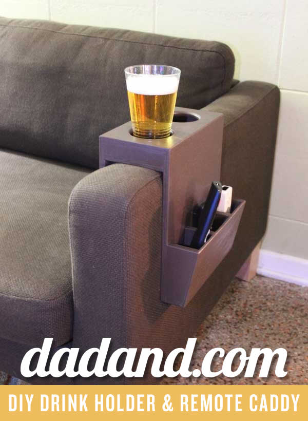 remote holder for chair stokke high cushion sewing pattern diy couch cup and caddy | dadand.com