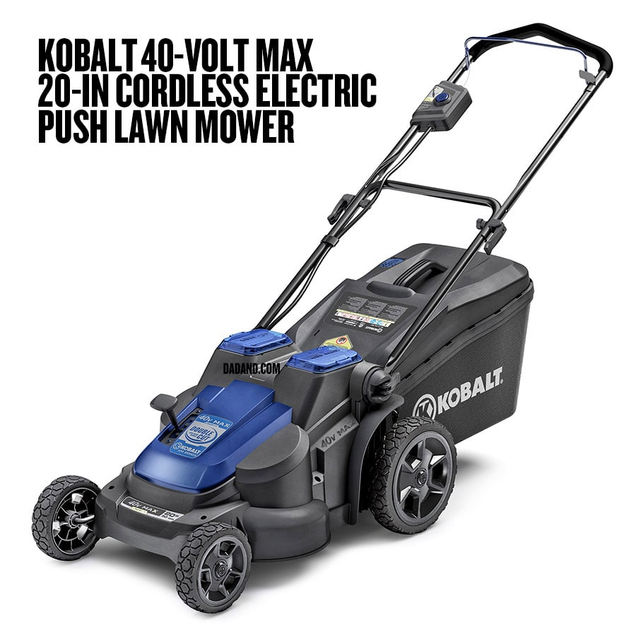 medium resolution of kobalt 40 volt max 20 in cordless electric push lawn mower