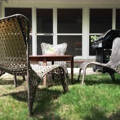 Garden Treasures Patio Chairs Arm Chair Slip Covers Outfitting The With Lowe's | Dadand.com -
