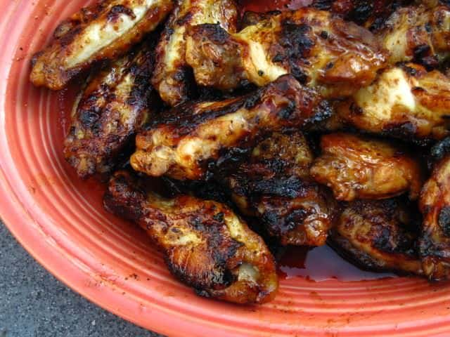 Grilled Chicken Wings Spicy Asian Glazed Dadcooksdinner