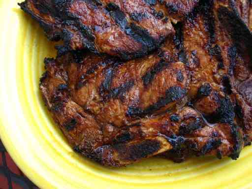 Grilled Thin Pork Chops, Quick Brinerated | DadCooksDinner.com