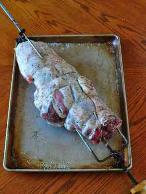 Dry brined, trussed and ready for the grill