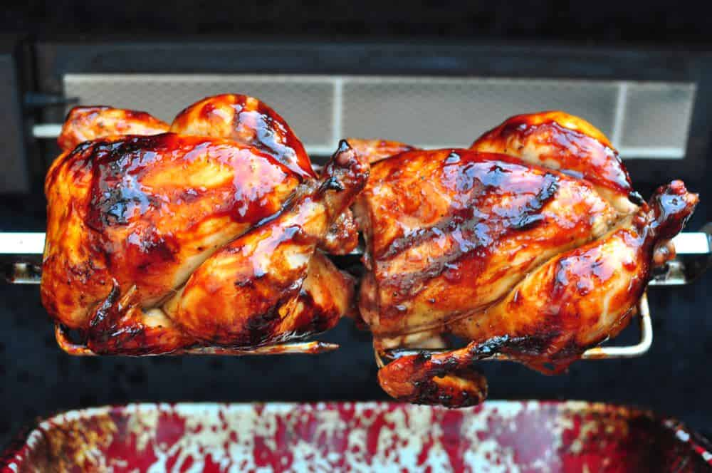 Rotisserie Cornish Game Hens With Port Wine And Currant Jelly Glaze Dadcooksdinner