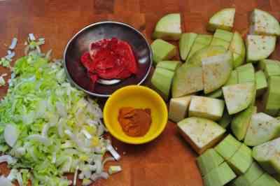Aromatics, spices, and eggplant
