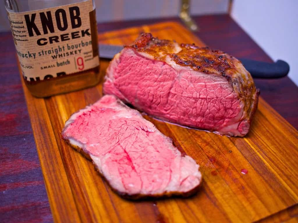 sous vide new york strip roast with bourbon cream pan sauce dadcooksdinner. Black Bedroom Furniture Sets. Home Design Ideas