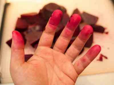 Beet fingers!