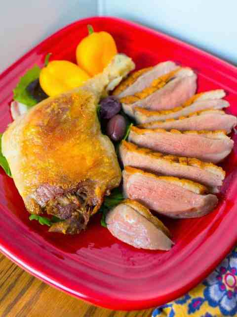 Sous Vide Duck Two Ways - Duck Breast and Duck Leg Confit