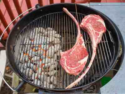 Start the steaks over indirect heat