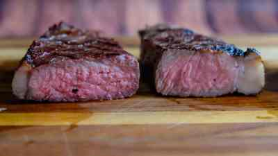 Grilled Thick Cut New York Strip with Reverse Sear-0874