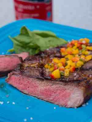 Sous Vide Grilled Ribeye with Salsa Criolla