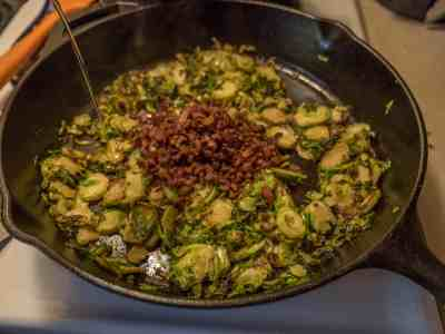 Shaved Brussels Sprouts with Bacon and Honey-1080362