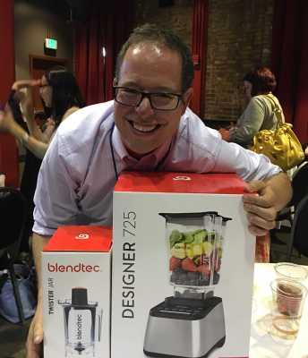 Me and my winning BlendTec Blender |DadCooksDinner.com