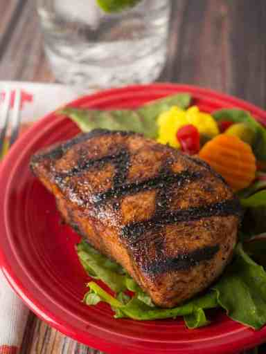 Grilled New York Pork Chops with West Indies Spice Rub | DadCooksDinner.com