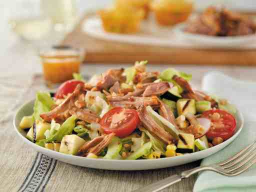 Pulled Pork Salad with Grilled Veggies (Photo by PorkBeInspired.com)
