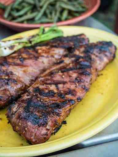Grilled Teriyaki Pork Tenderloin   DadCooksDinner.com