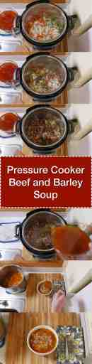 Pressure Cooker Beef and Barley Soup | DadCooksDinner.com