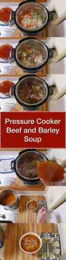 Pressure Cooker Beef and Barley Soup   DadCooksDinner.com