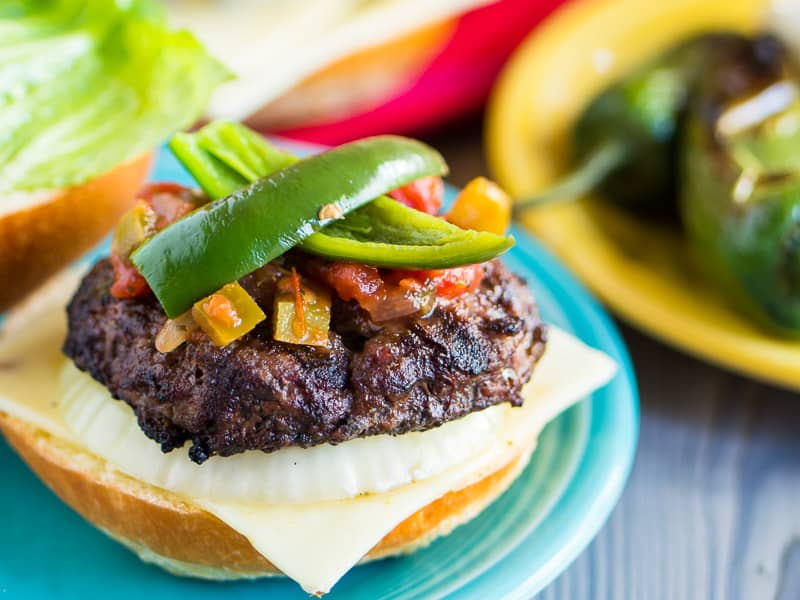Jalapeno Cheeseburgers with Grilled Onions   DadCooksDinner.com