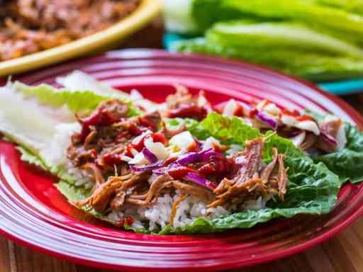 Pressure Cooker Korean BBQ Pork Lettuce Wraps - Portrait   DadCooksDInner.com