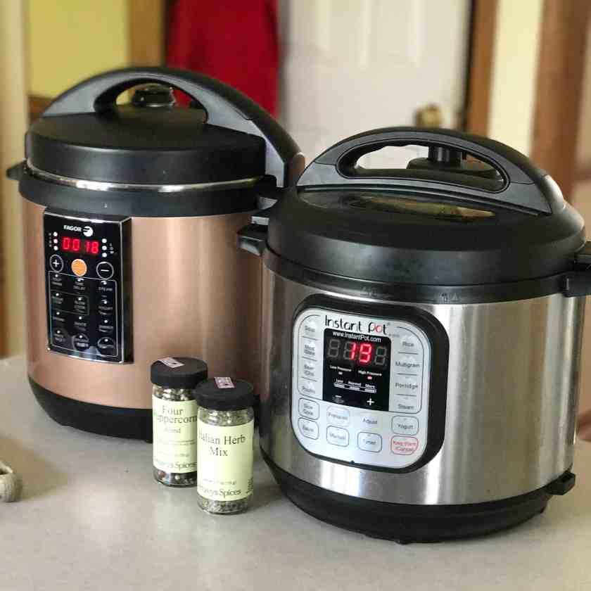 Fagor Lux and Instant Pot Duo | DadCooksDinner.com