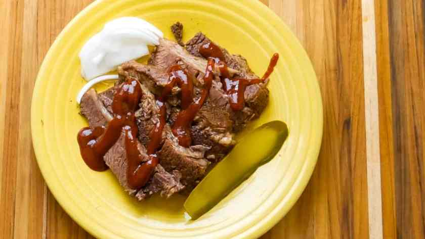 Pressure Cooker Beef Brisket | DadCooksDinner.com