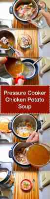 Pressure Cooker Chicken Potato Soup (From Scratch) Step-by-step tower | DadCooksDinner.com