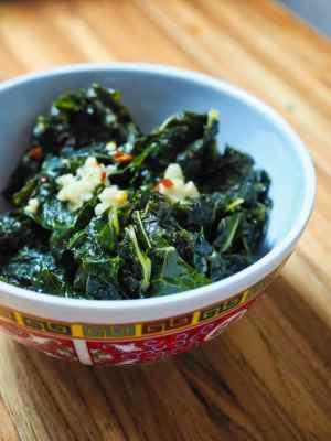 Pressure Cooker Chinese Kale | DadCooksDinner.com