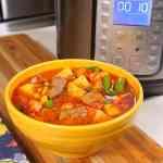 Pressure Cooker Vegetable Beef Soup | DadCooksDinner.com