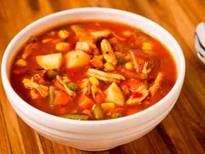 Pressure Cooker Day-After-Thanksgiving Vegetable Turkey Soup | DadCooksDinner.com