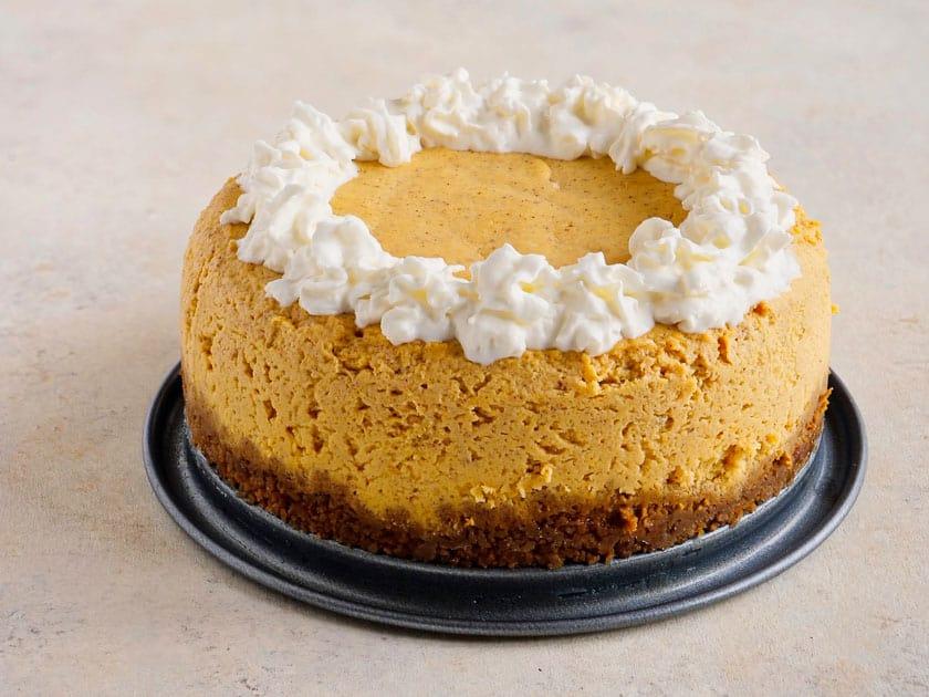 Pressure Cooker Pumpkin Cheesecake | DadCooksDinner.com