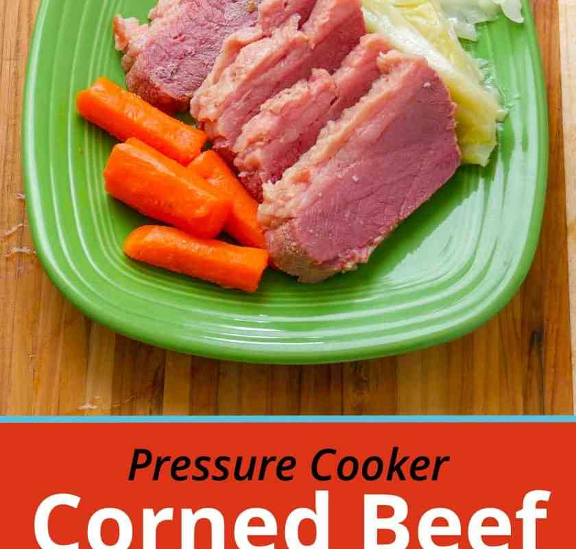 Pressure Cooker Corned Beef and Cabbage with carrots