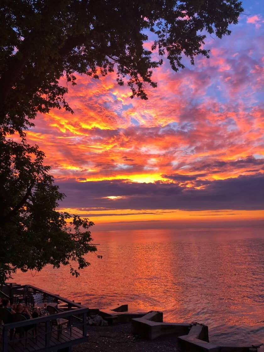 Red Sunset over Lake Erie 2018