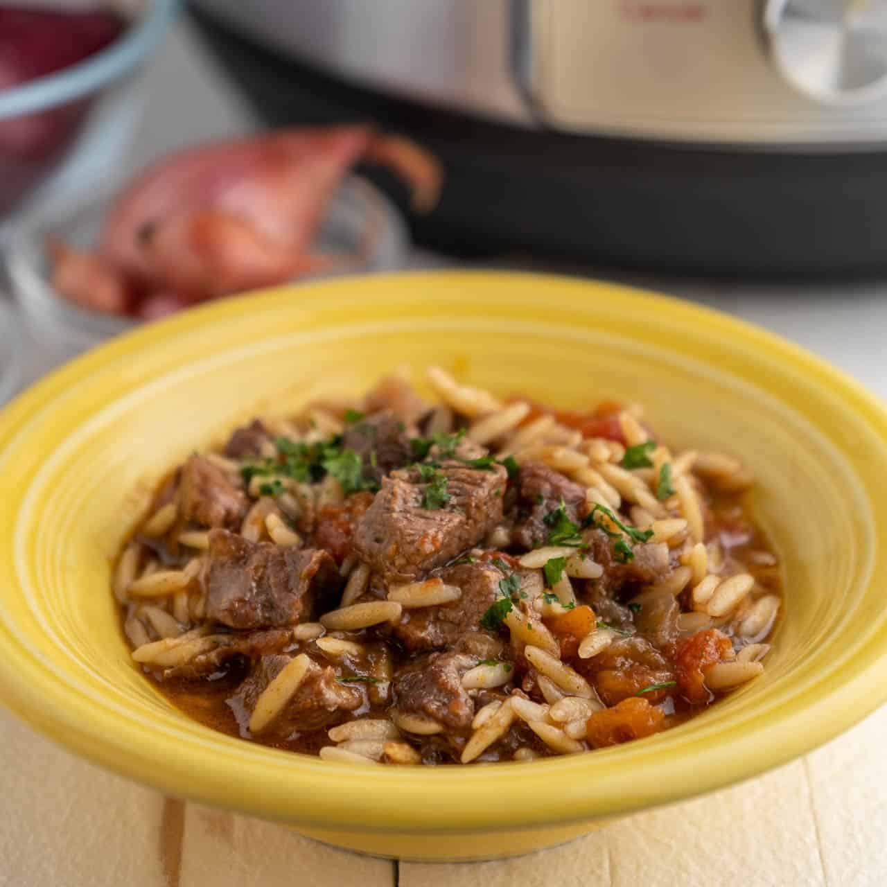 instant pot lamb youvetsi greek lamb stew with orzo