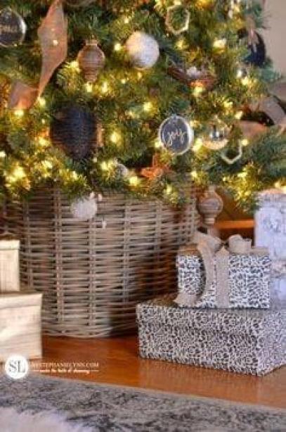 Υπέροχες Ιδέες για να καλύψετε την ΒΑΣΗ του χριστουγεννιάτικου δέντρου