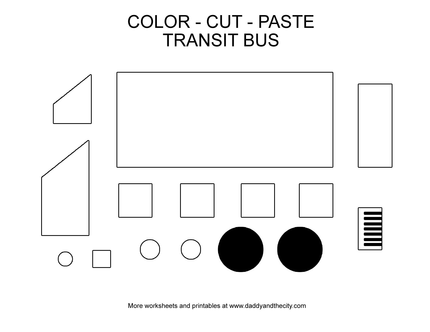 Autism Cut And Paste Shape Worksheet