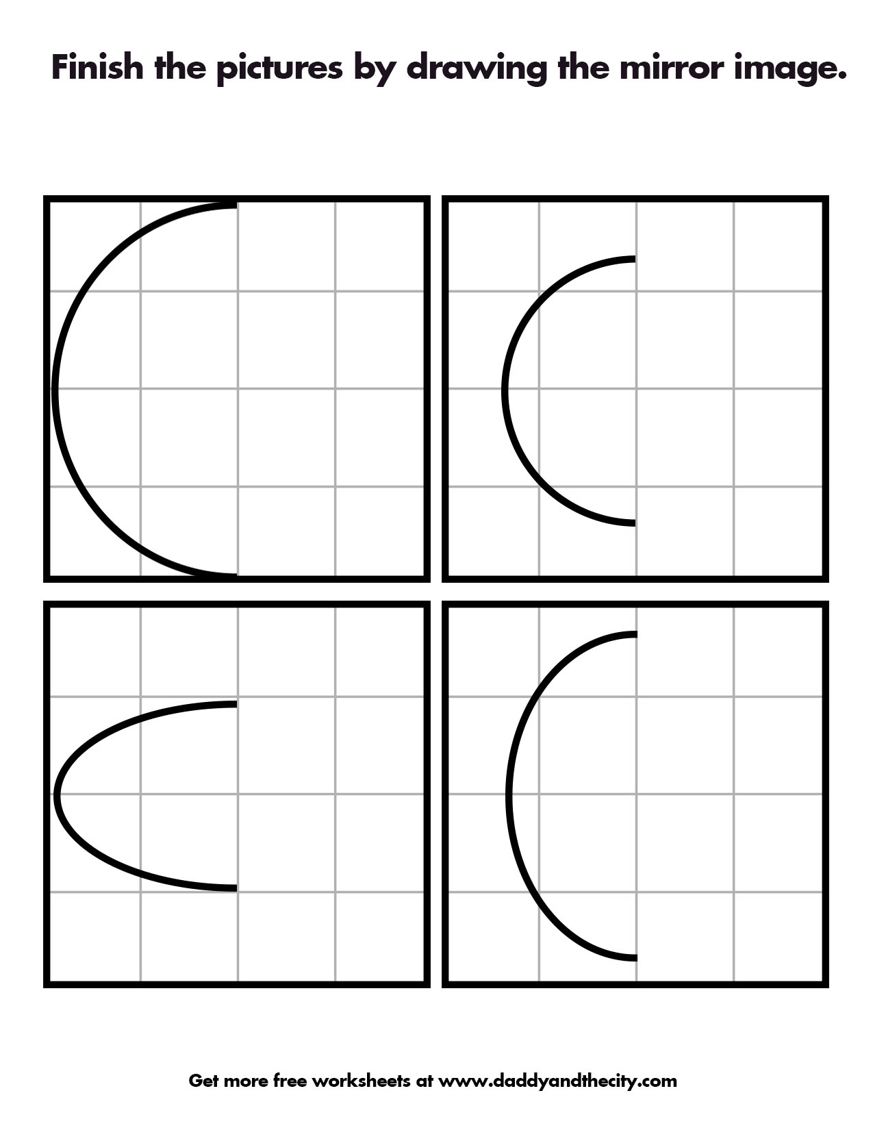 Symmetry And Mirror Image Worksheets Daddy And The City