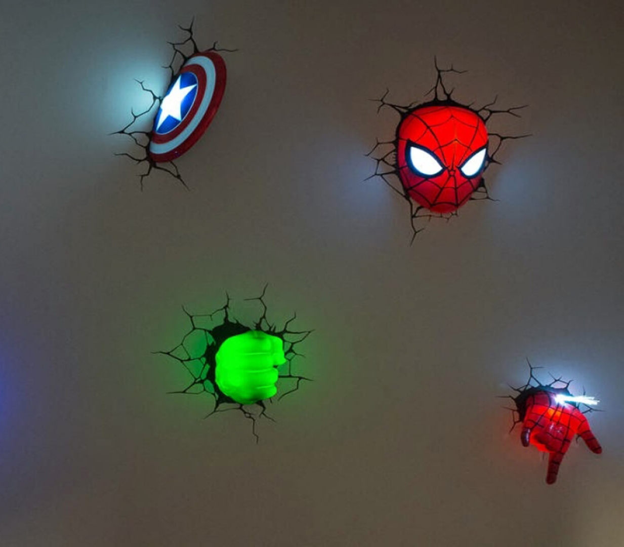 Superhero 3D Wall Lights