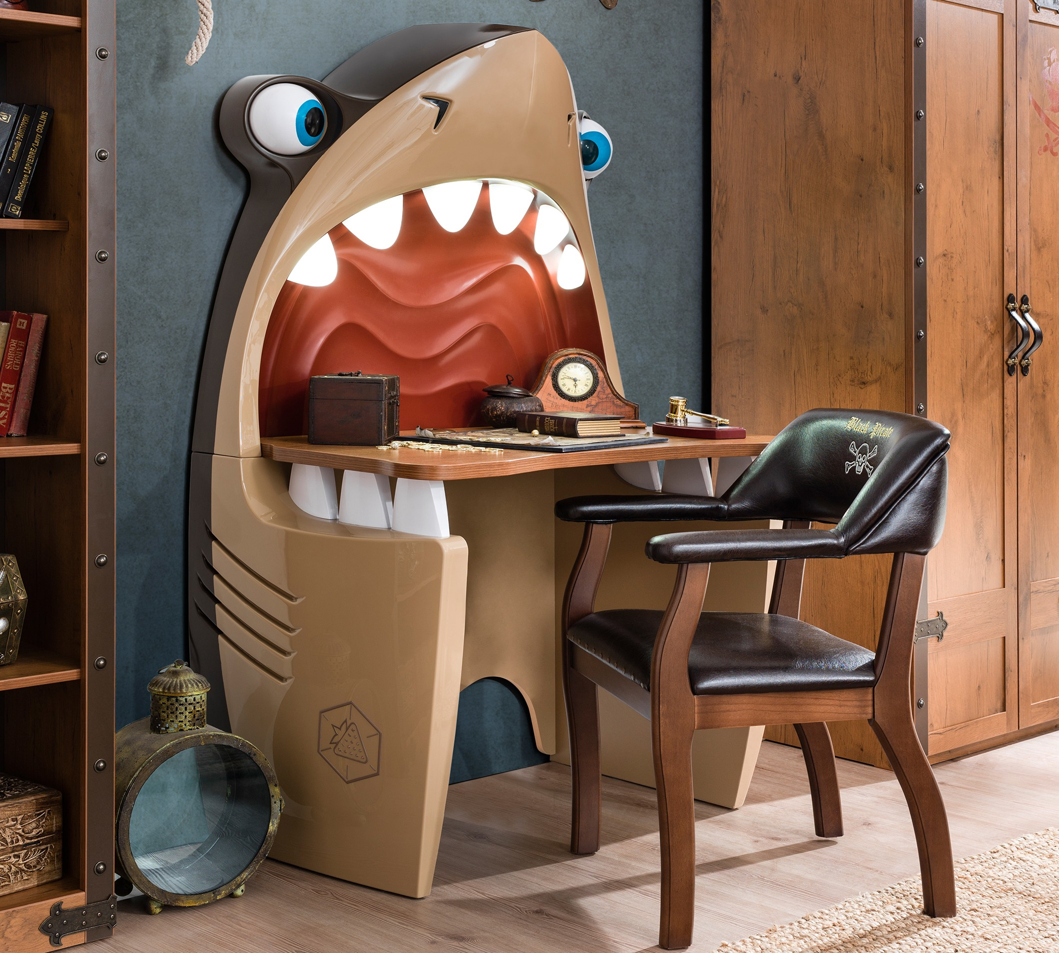 Pirate Shark Study Desk