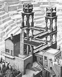 """""""Cascata"""" di Maurits Cornelis Escher, 1961"""